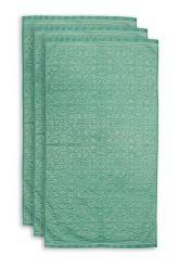 Handdoek-set/3-barok-print-groen-55x100-tile-de-pip-katoen
