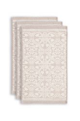 gasten-doekje-set/3-barok-print-khaki-30x50-tile-de-pip-katoen
