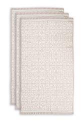 Handdoek-set/3-barok-print-khaki-55x100-tile-de-pip-katoen
