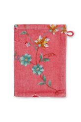 Washandje-roze-bloemen-16x22-les-fleurs-pip-studio-katoen-terry-velour
