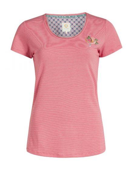 Top short sleeve Stripers blush