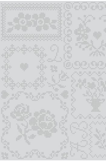 Cross Stitch wallpaper grey