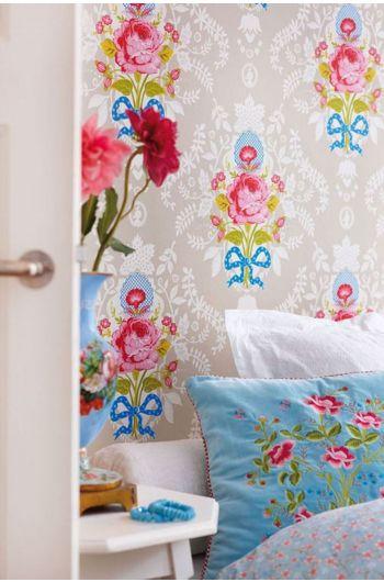 wallpaper-non-woven-flowers-khaki-pip-studio-shabby-chic