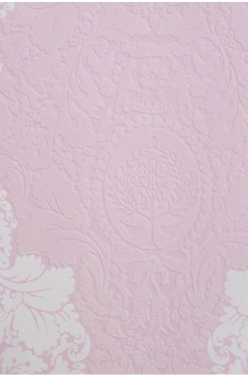 Silhouettes Flock wallpaper baby pink