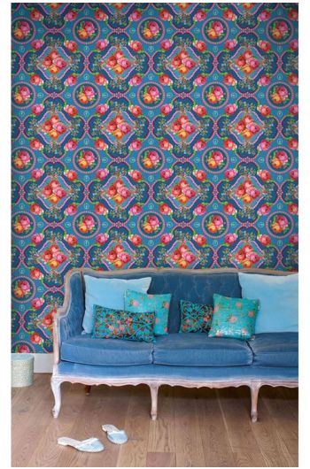 Singing Roses wallpower blauw