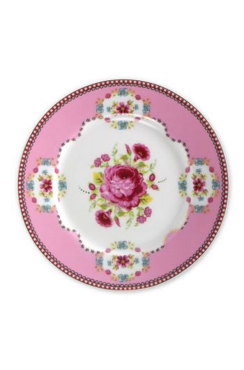 Floral cake plate pink