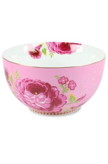 Floral kom S roze