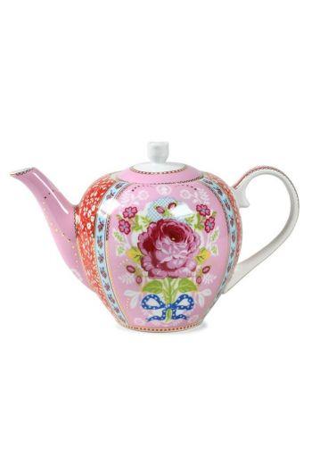 Floral Teekanne rosa
