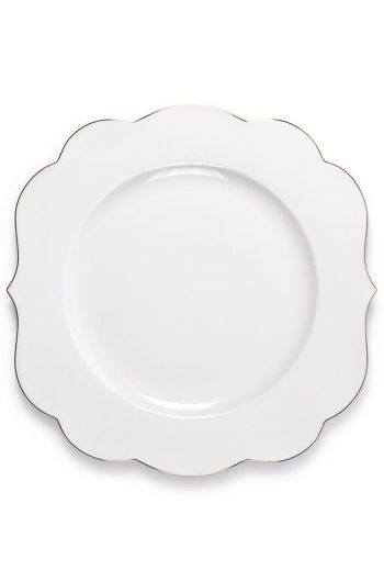 Assiette plate Royal Blanc uni - 28cm