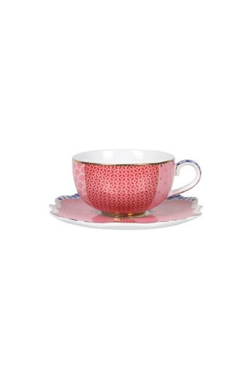 Royal espresso kop & schotel roze