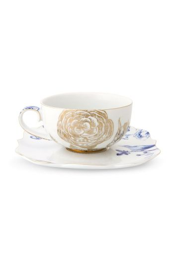 Royal White tea cup & saucer