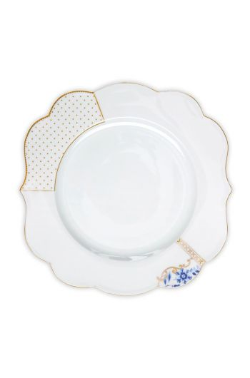 Royal White dinner plate