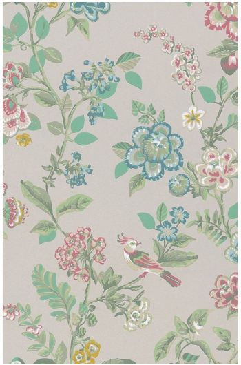 Botanical Print wallpaper khaki