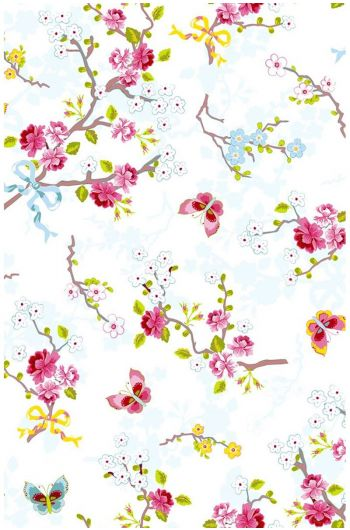 Chinese Rose wallpaper off white