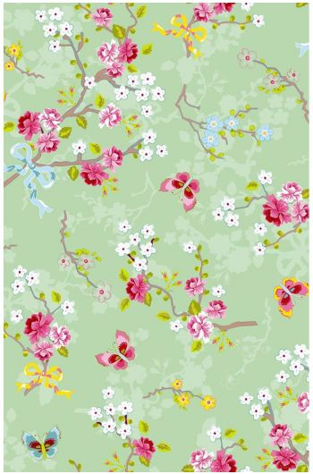 Pip Studio Chinese Rose wallpaper soft green
