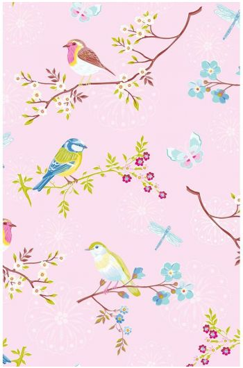 Early Bird wallpaperlight pink