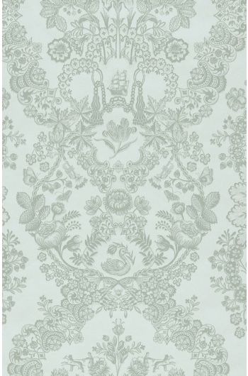 Lacy Dutch wallpaper light green
