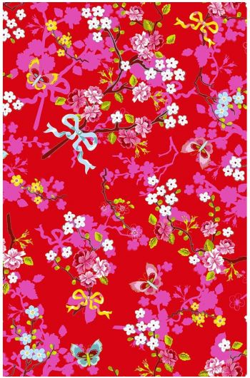 Chinese Rose wallpaper red