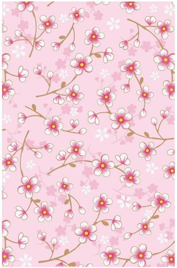 Cherry Blossom behang lichtroze