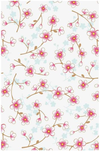 Cherry Blossom wallpaper white