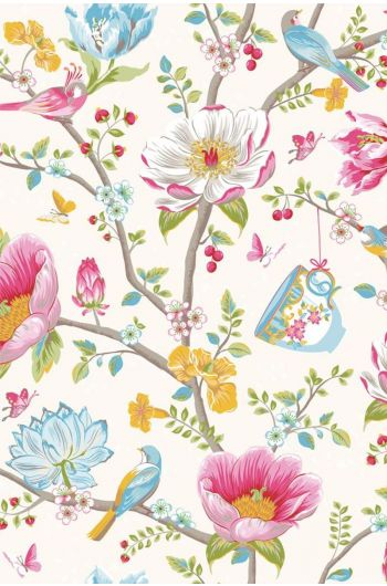 Pip Studio Chinese Garden wallpaper white