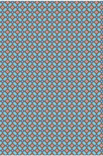 Geometric wallpaper brown light blue