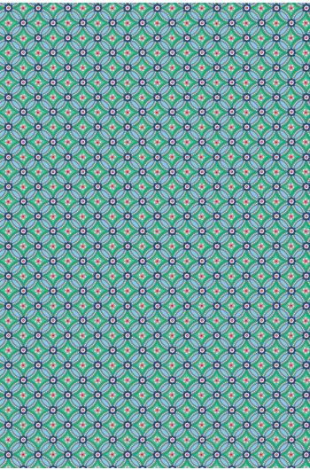 Geometric wallpaper green