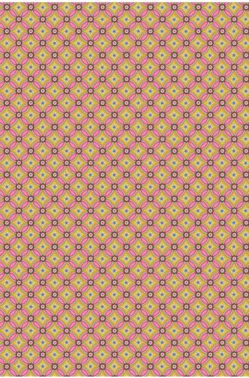 Geometric wallpaper yellow