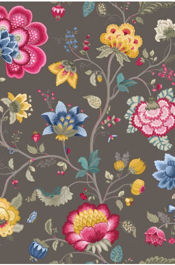 Floral Fantasy behang taupe