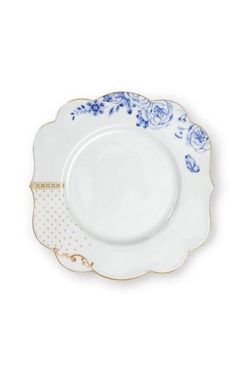 Royal White breakfast plate golden dots 23,5 cm