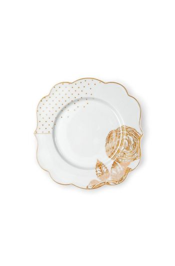 Royal White cake plate