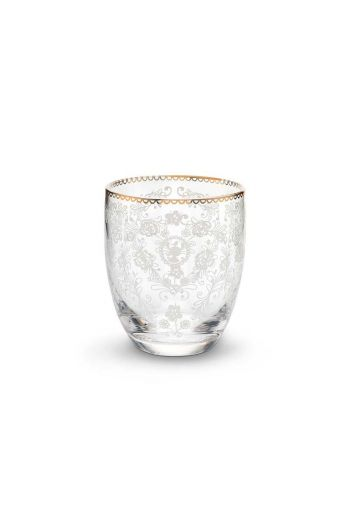 Floral water glass