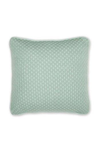 Cushion Cosy knitted square green