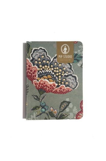 Notebook Small Berry Bird Green