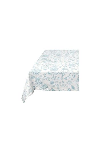 Spring to Life Table Cloth White Blue