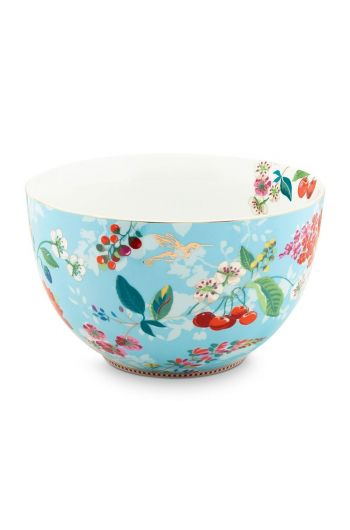 Floral Bowl Hummingbirds 23 cm Blue