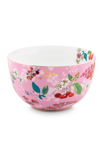 Floral Bowl Hummingbirds 23 cm Pink
