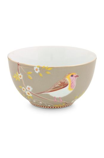 Floral Bowl Early Bird 15 cm Khaki