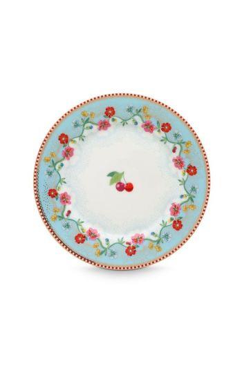Floral Plate Cherry 17 cm Blue