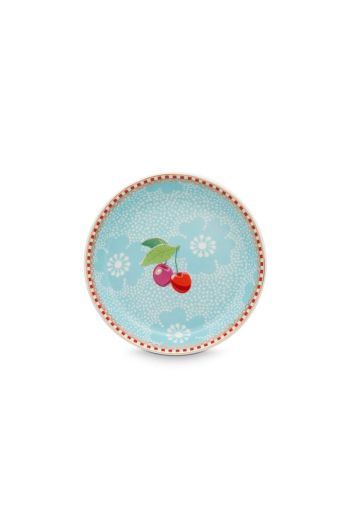 Floral Teeteller Dotted Flower Blau