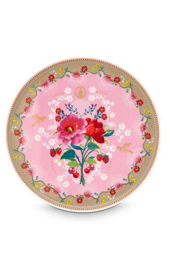 Floral Cake Platter Rose pink