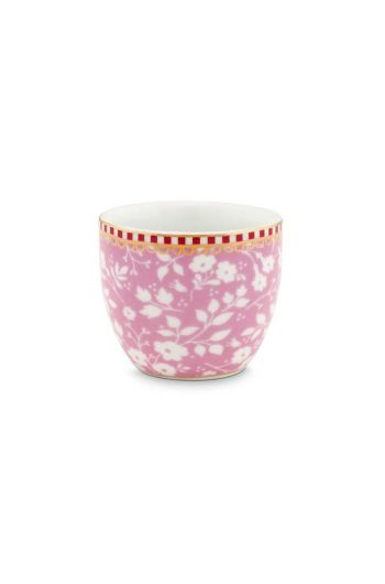 Floral Egg Cup Lovely Branches Pink