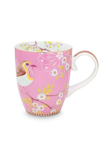 Floral Mug Large Early Bird Pink
