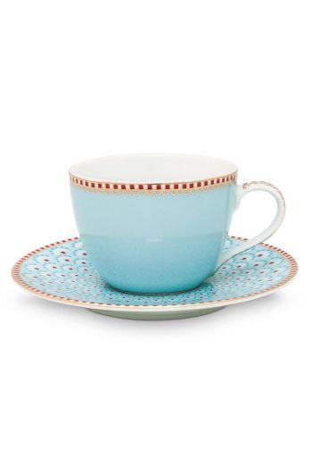 Floral Espresso Cup & Saucer Bloomingtails Blue