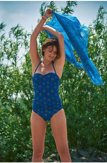 Badeanzug mit Falten Upsy Daisy blau