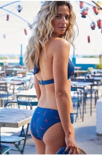 Mid-waist Bikini Bottom Splash blue