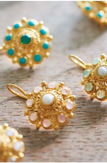 Earrings goldplated Grandma's Astrantia Light Pink