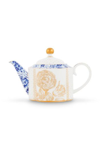 Royal White Teapot Small