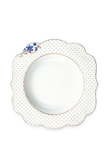 Royal White Suppenteller 23,5 cm Golden Dots