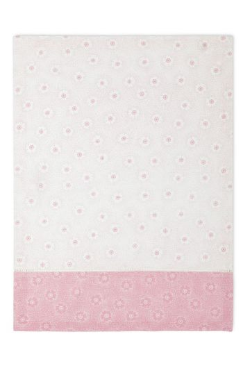 Floral Tea Towel Dotted Flower Pink